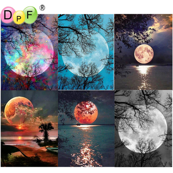 5D DIY Diamond Painting Full moon round/square Cross Stitch Diamond Embroidery kits Diamond Mosaic home Decorative drill image