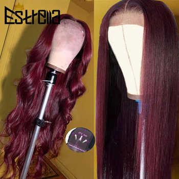 99J Human Hair Wig Brazilian Straight Body Wave Lace Closure Wigs 4x4 Closure Wig Remy 100% Human Hair Wigs For Women - DISCOUNT ITEM  42 OFF Hair Extensions & Wigs