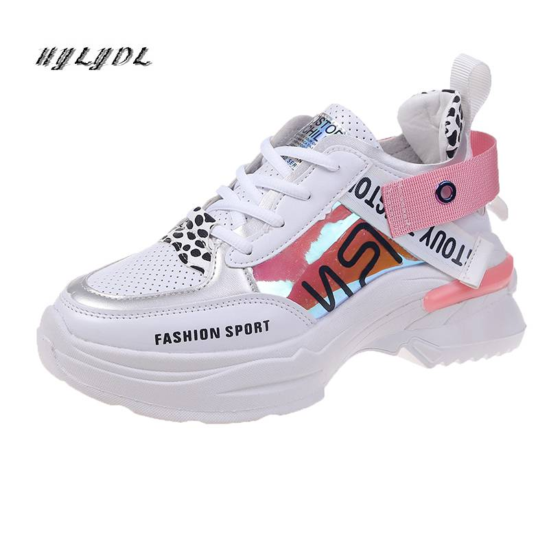Women Shoes New Arrival Chunky Sneakers Fashion Casual Vulcanize Shoes Flat Platform Height Increase Footwear Femme Krasovki