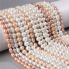Elegante pérola natural real frisado solta contas para fazer festa de casamento jóias diy pulseira colar brincos acessórios feminino