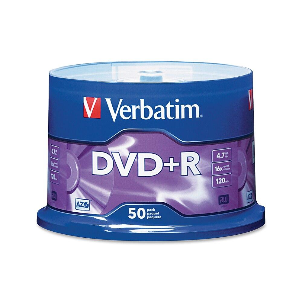 Verbatim DVD + R 4,7 GB 16X 50PK шпиндель фирменный записываемый медиа диск компактный записывающий DVD 95037|Чистые диски|   | АлиЭкспресс