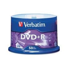 Verbatim DVD + R 4,7 GB 16X 50PK шпиндель фирменный записываемый медиа-диск компактный записывающий DVD 95037
