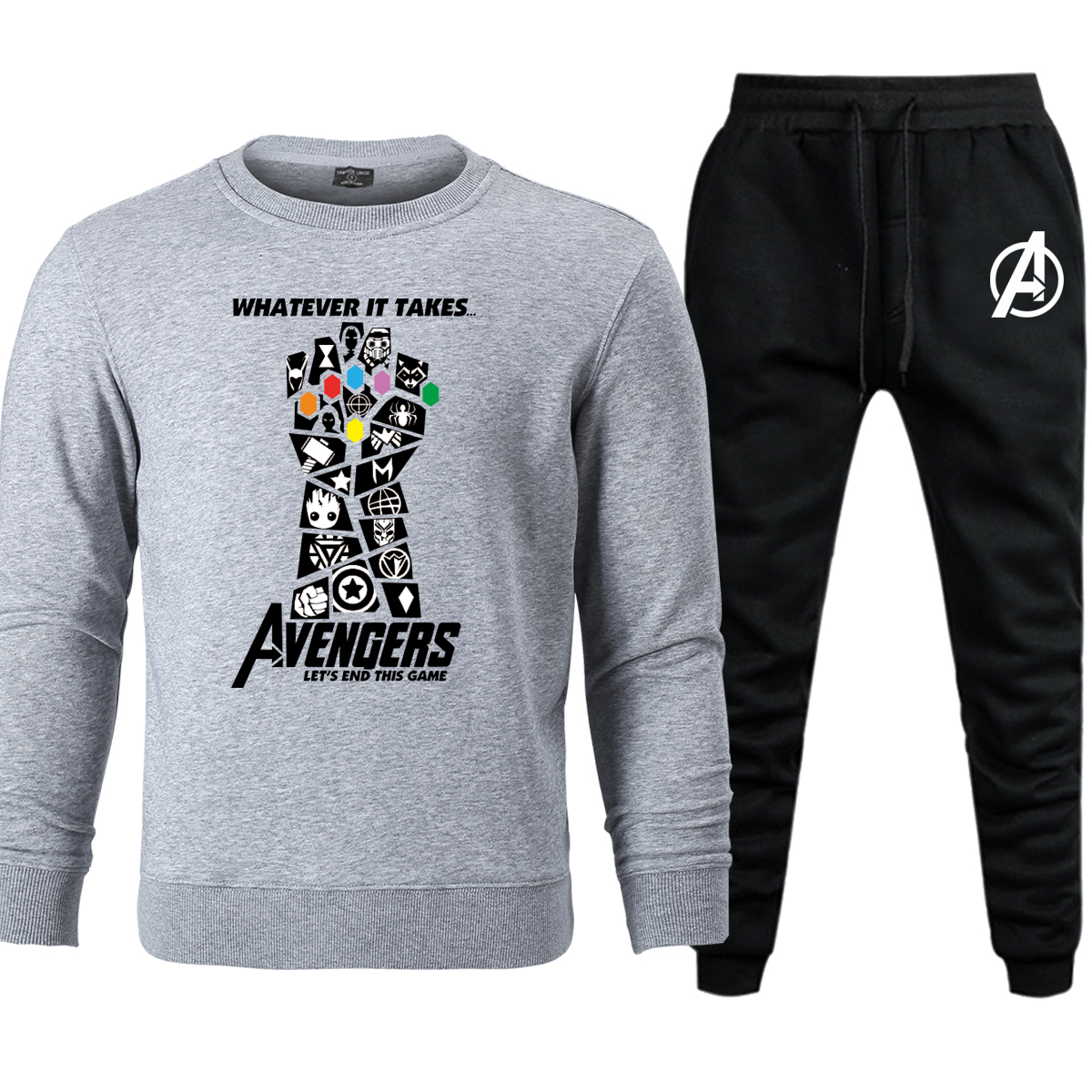 Avengers 4 Endgame Men Hoodies Pants Set Marvel  Infinity War End Game Thanos Mens Sets Hoody Sweatshirt Pant 2019 Casual Hoodie