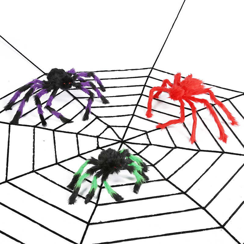 Halloween Spider Web Bar Decorates props with false spider web silk No Spiders