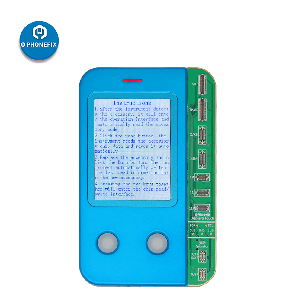 JC Pro1000S V1 For IPhone 7/7P/8/8P/X/XR/XS/MAX/11/11Pro/11Pro Max Photosensitive Original Color Touch Vibrator Data Read Write