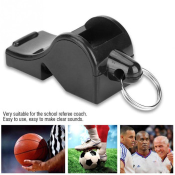 цена на ABS Whistle Outdoor Seedless Basketball Soccer Referee Whistle Professional Training Sport Whistle Keychain Cheerleading Part
