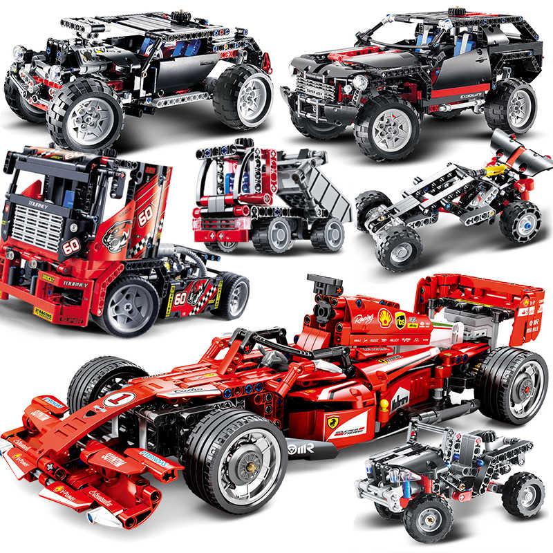 Décool Technic MOC F1 moteur voiture Cruiser modèle blocs de construction moto compatible pour les jeux de formule de camion de course de ville legoinglys