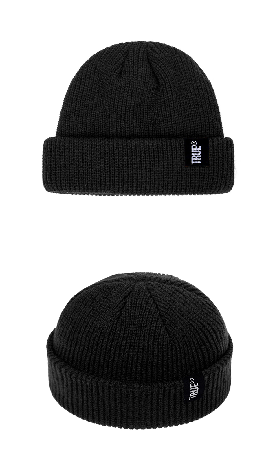 2019 Fashion Unisex Winter Hat Men Cuffed Cib Knit Hat Short Melon Ski Beanies Autumn Winter Solid Color Casual Beanie Hat 38