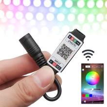 1 pcs Mini LED Bluetooth RGB Strip Light Controller Wireless Smart Phone Control DC 5-24V