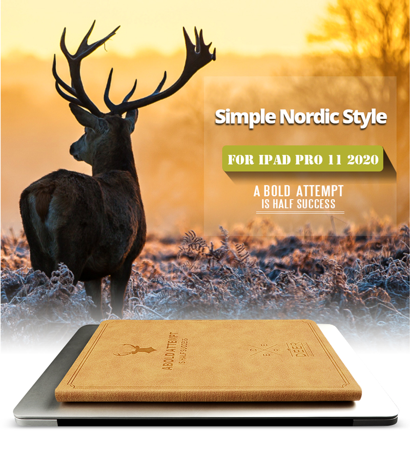Pro Funda 2nd 11 Case Leather Stand New 2020 iPad Tablet Generation PU for Retro Magnetic