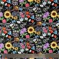 50*110 см хлопковая ткань Подсолнух, маргаритки набойки ручной работы скатерть занавес подушка мягкая одежда для малышей с рисунком героев му...