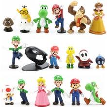 Donkey Kong Action-Figures-Model Luigi Peach Princess Green-Treasure-Mushroom Super-Mario