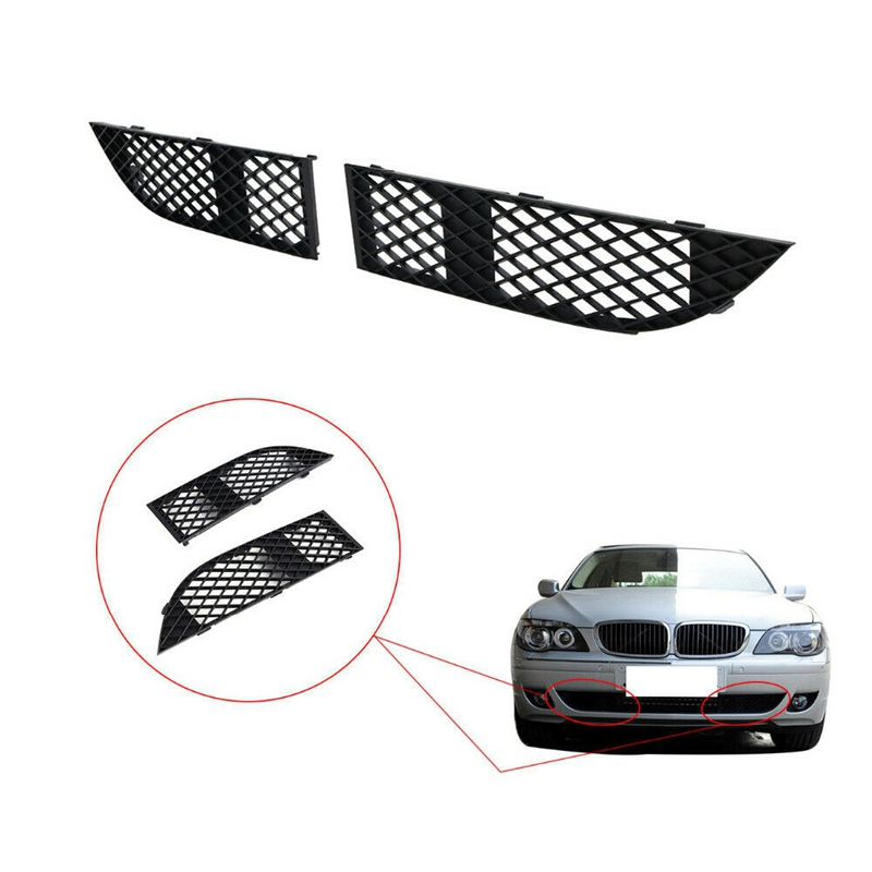 Front Bumper Lower Left Right Lateral Grilles for BMW 7 Series E65 E66 LCI 750I 760Li 2005 2008 51117135564 51117135563|Racing Grills| |  - title=
