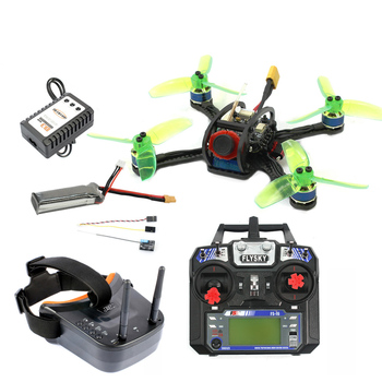 120mm Mini F3 OSD 2S RC FPV Racer Drone Quadcopter 700TVL Camera VTX Goggle 10A ESC 7500KV Brushless 2.4G 6ch BNF RTF Combo Set