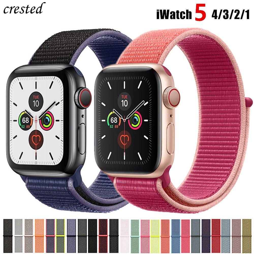 Спортивная петля ремешок для Apple watch группа 42 мм 38 мм iwatch 4 группа 44 мм 40 мм нейлоновый ремешок для часов Correa Браслет Apple Watch 4 3 21