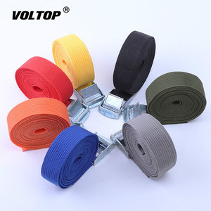 Image 2 - 3 Meter Buckle Tie Down Belt Cargo Straps for Car Motorcycle Bike with Metal Buckle Tow Rope Strong Ratchet Belt for Luggage Bag