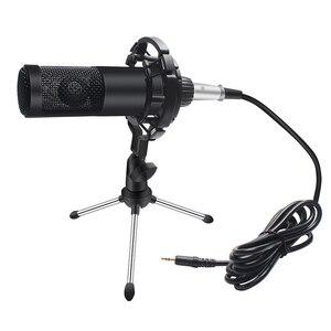 Image 5 - Metalen Condensator Microfoon Kit Voor Pc Computer Professionele Microfoon Met Stand Record Thuis Voor Omroep Karaoke