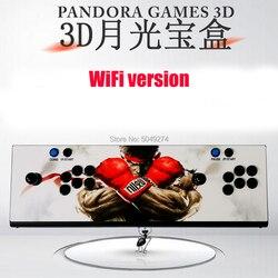 Pandora box 3D Casella di Arcade 2448 in 1 WiFi Funzione di Risparmio Ritardo Zero 8 Bottoni Joystick Controller PCB 140 pcs 3D Giochi 9D 2650