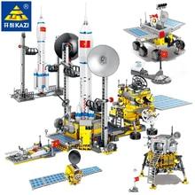 International Space Station Blocks Shuttle Satellite Rocket Astronaut Figure Building Bricks Space Launch Center Kids Toys Gifts