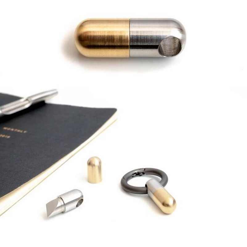 Многофункциональный EDC портативный мини-инструмент из нержавеющей стали, брелок для ключей, капсульный нож, маленький режущий инструмент