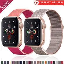 Ремешок для Apple watch Series 6/5/4 40 мм 44 мм, нейлоновый мягкий воздухопроницаемый сменный Браслет для iwatch series 6 5 4 3 2 1 38 мм 42 мм