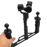 Metal Handheld Stabilizer Rig Tray Handle Hand Grip Underwater Scuba Diving Tray Mount LED Light for GoPro 6/5/4/3+/3