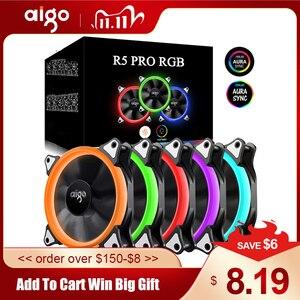 Image 1 - Aigo 120mm ventilador caso do pc ventilador ajustável aurora rgb led computador ventilador de refrigeração 12v mudo ventilador caso para computador