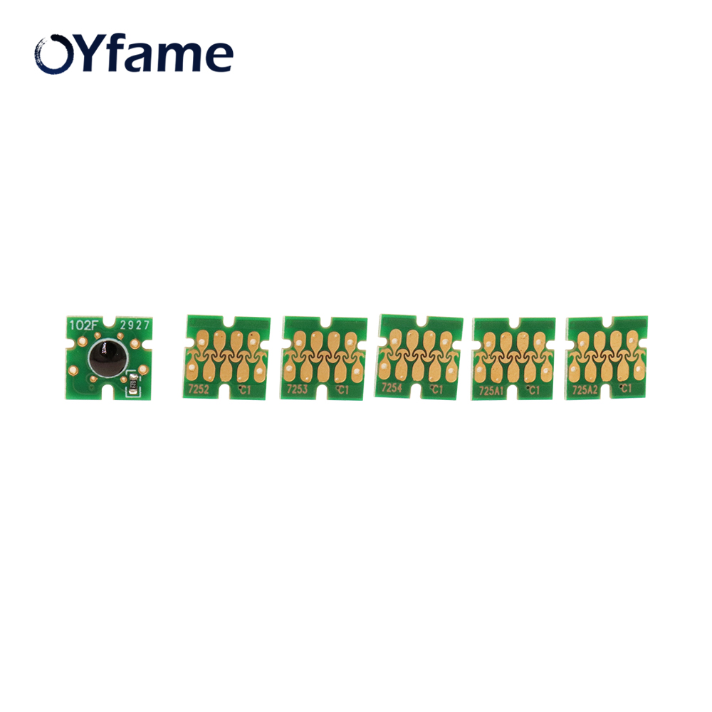 OYfame 6PCS T7251 T7251A Cartridge Chip For <font><b>Epson</b></font> Surecolor SC-<font><b>F2000</b></font> <font><b>F2000</b></font> <font><b>Printer</b></font> Cartridge Chip One time Chip image