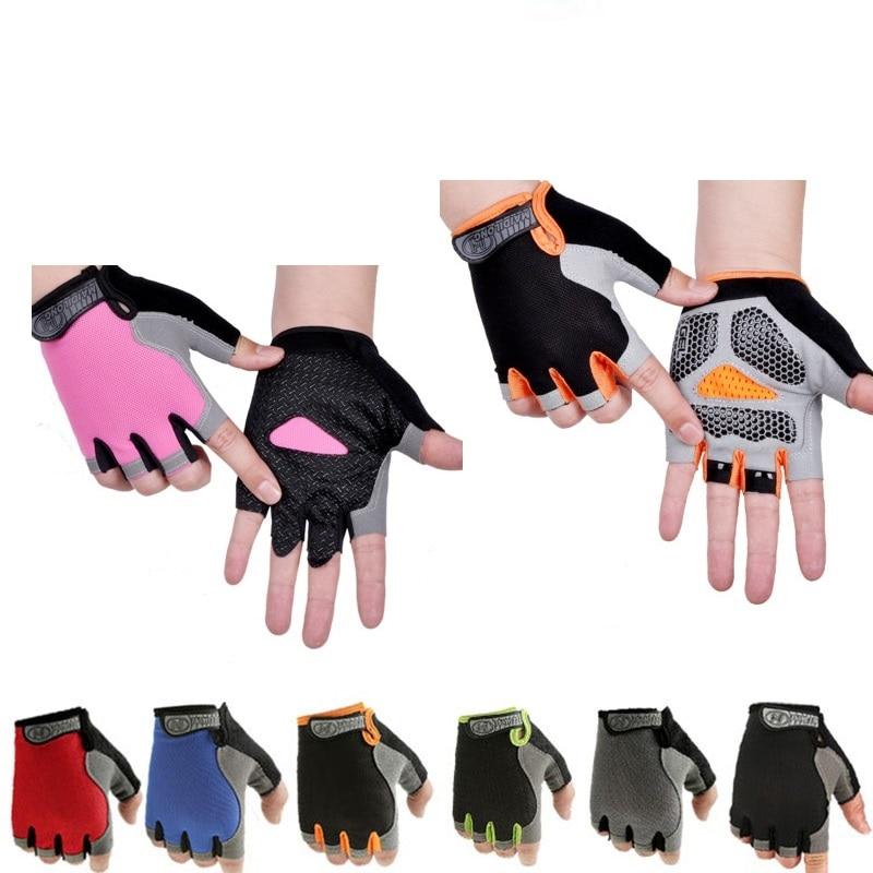 Лидер продаж, противоскользящие спортивные мужские и женские перчатки с полупальцами, дышащие спортивные перчатки с защитой от ударов, велосипедные перчатки
