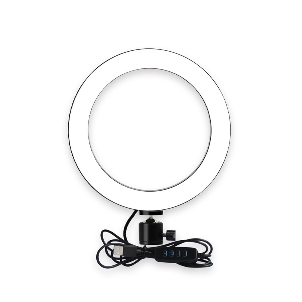 cheapest Photography LED Selfie Ring Light 16 26cm Dimmable Photo Studio Light clip USB Plug For Makeup Youtube Video Live