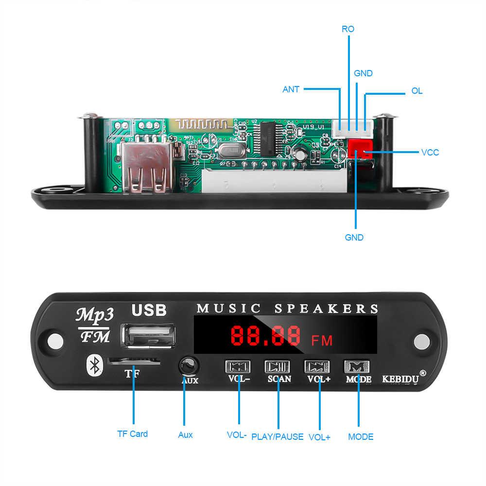 5 V-12 V Xe Hơi Sửa Đổi Bluetooth MP3 Người Chơi Bộ Không Dây Thu FM MP3 Bộ Giải Mã Ban USB 3.5mm Âm Nhạc Âm Thanh Adpater