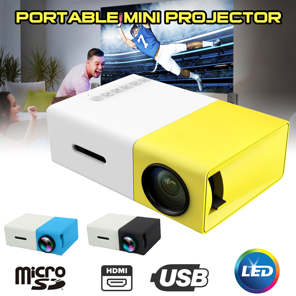 Portable <font><b>LED</b></font> Mini Projector 320x240 Pixels 1920P <font><b>YG</b></font>-<font><b>300</b></font> HDMI USB Mini Projector Home Media Player Video Entertainment Projector image