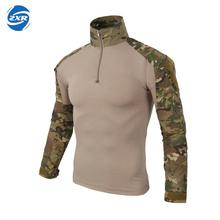Zuoxiangru Gear Camouflage Army T-Shirt Men RU Soldiers Combat Tactical T Shirt Military Force Multicam Camo Long Sleeve T Shirt camouflage cold shoulder slit t shirt