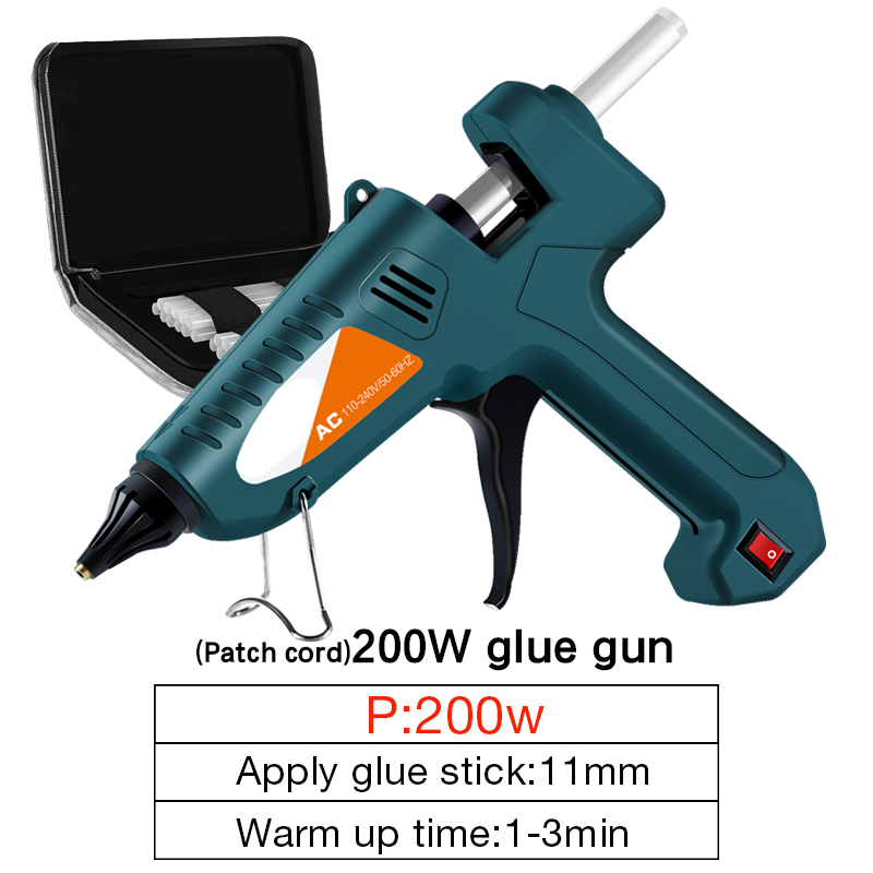 Tools : DTBD Melt Glue 200W 100-240 V   Professional High Temperature Hot Melt Glue Gun Repair Tools Hot Glue Gun With 11MM  Stick Hot
