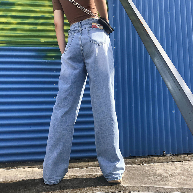 Ladies Straight Leg Baggy Jeans 4