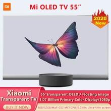 Xiaomi-Smart TV transparente de 55 pulgadas, televisión inteligente con pantalla OLED de 5,7mm, ultrafina, compatible con Bluetooth 5,0, Dolby Atmos