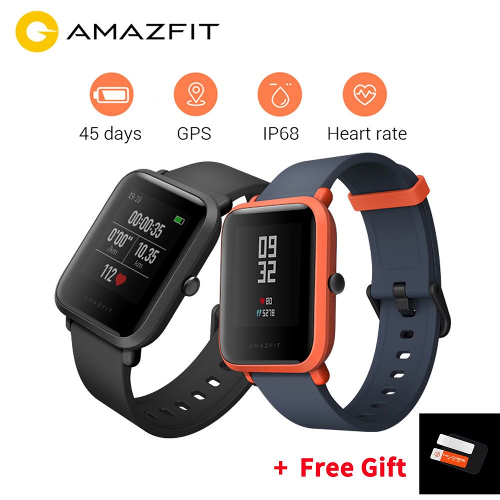Version internationale Huami Amazfit Bip montre intelligente GPS Gloness Smartwatch 45 jours en veille
