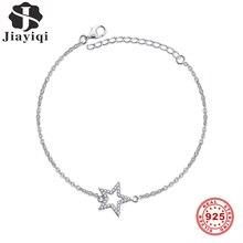 Jiayiqi One Star Silver Bracelet 925 Sterling Silver Women'S