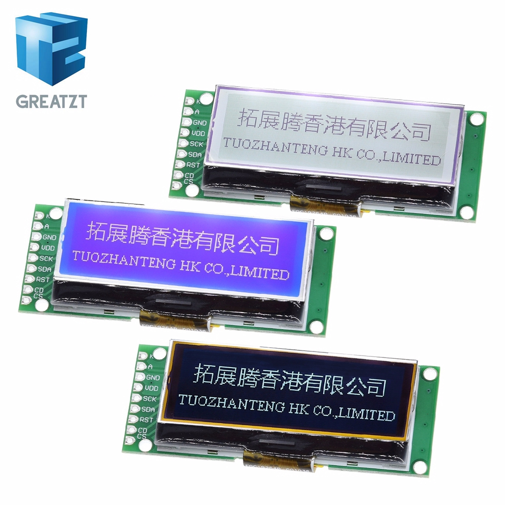 GREATZT LCD19264 192*64 192X64 Graphic Matrix LCD Module Display Screen 3.3-5V LCM Build-in UC1609C Controller With LED Backligh