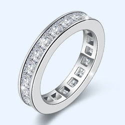 18 K białe złoto 100% prawdziwe naturalne Moissanite pierścień dla kobiet grzywny Anillos De Bizuteria srebro 925 biżuteria 18 K złoty pierścień z pudełkiem