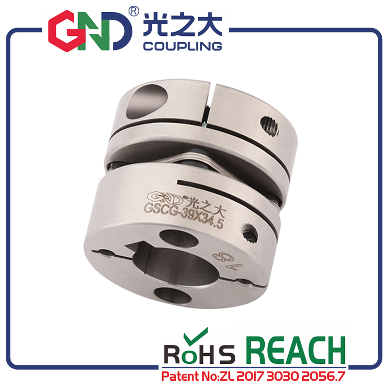 GND flexible coupling diaphragm stainless steel single diaphragm clamp for CNC hollow shaft encoder couples stepmotor connect|Shaft Couplings| |  - title=