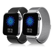 Ремешок для часов mi, ремешок для наручных часов, металлический браслет, Безвинтовой браслет из нержавеющей стали для Xiaomi mi, Широкие ремешки для часов mi, Pulseira