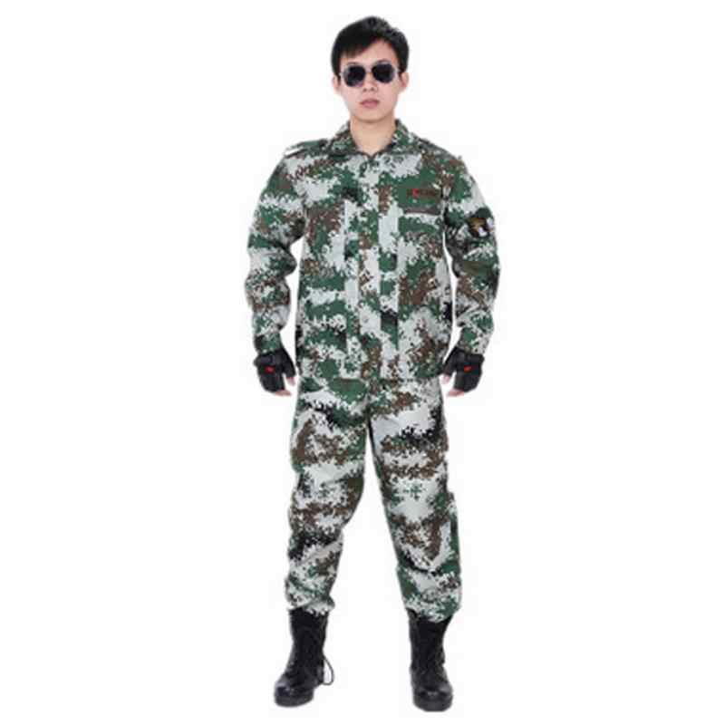 Men Ghillie Suit CS Camouflage Suits Tactical Uniform Jungle Camouflage Suit Combat Hunting Clothing Set Training Uniform #2