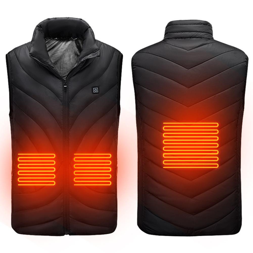 Electric USB Heated Vest Men Winter Outdoor Heated Sleevless Jacket Men's Self Heating Vest Men Ski Waistcoat Hiking Heater Vest