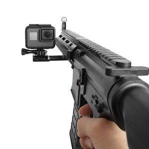 Image 3 - CNC Aluminum Gun Side Rail Smartphone Adapter Holder Mount for Gopro Hero 8 7 6 5 SJCAM Yi 4K SONY Action Camera Accessories Set
