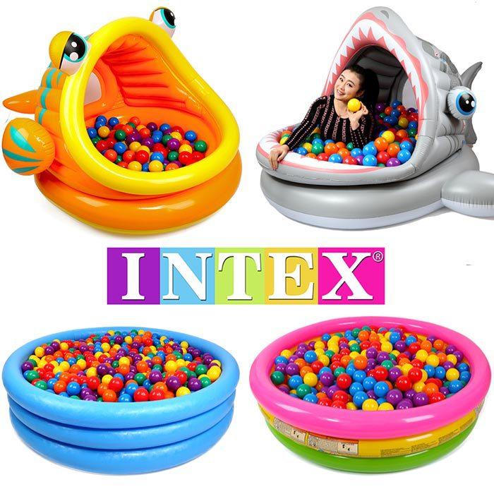 INTEX Children Swimming Pool Family Inflatable Pool Infant Oceans Ball Pool Sandbox Adult Bath Toy