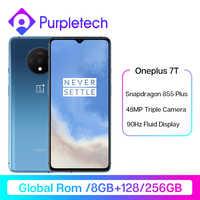 Global ROM OnePlus 7 T 7 T Snapdragon 855 Plus Smartphone 90Hz líquido pantalla 6,55 Pantalla AMOLED 48MP Triple cámaras UFS 3,0 NFC