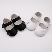 Stylish Newborn Spring Soft Bottom Non-Slip PU Casual Pre-walking Shoes Cute