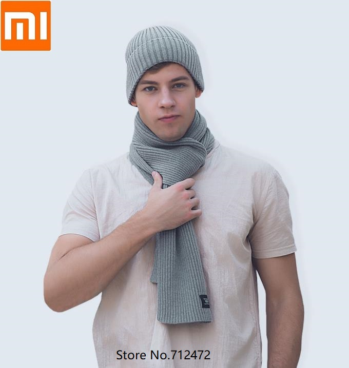 Xiaomi Fashion Warm Velvet Knit Scarf  Thicken Winter Keep Warm Comfortable Men Woman Neck Scarves