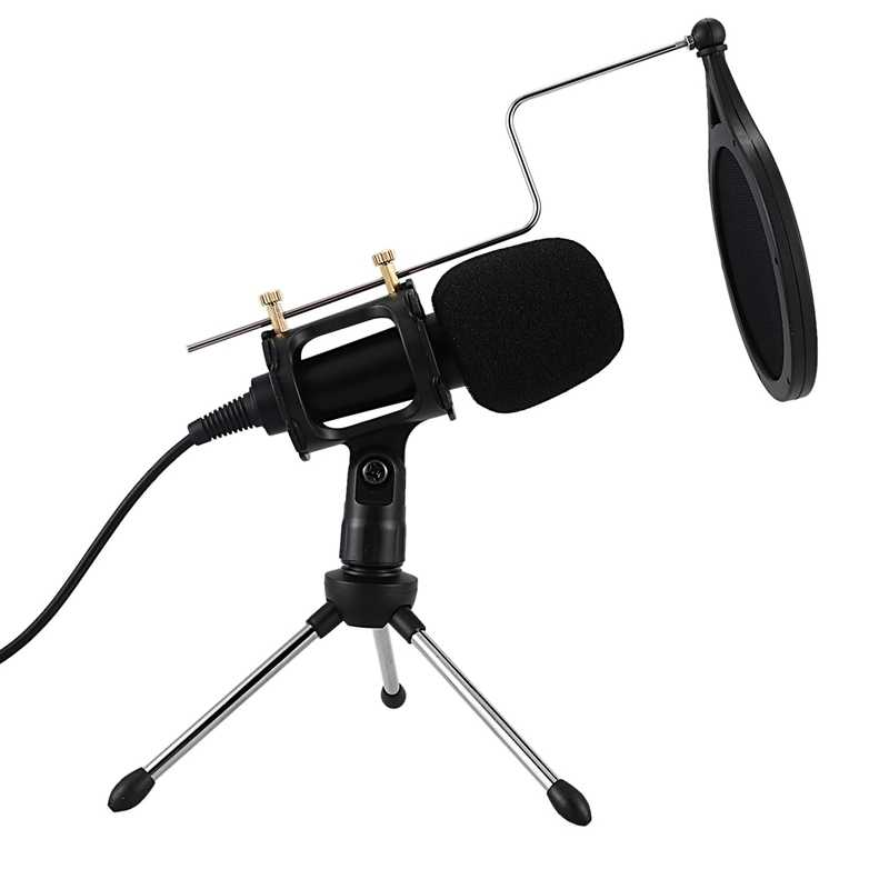 Полностью профессиональный микрофон, конденсатор для компьютера, ноутбука, ПК, Usb разъем + подставка, студийный Подкаст, записывающий микрофон, караоке, микрофон